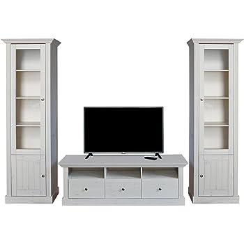 Loft24 Hanne 2-tlg. Wohnzimmer Set Sideboard Kommode Bücherschrank ...