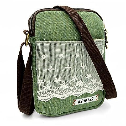 Mopaclle Mädchen klein Bezaubernd Umhängetasche Brieftasche Geldbeutel Handy Taschen für iphone 7 Plus,Samsung Galaxy S8 Plus (Spitze / (Papier Bag System)