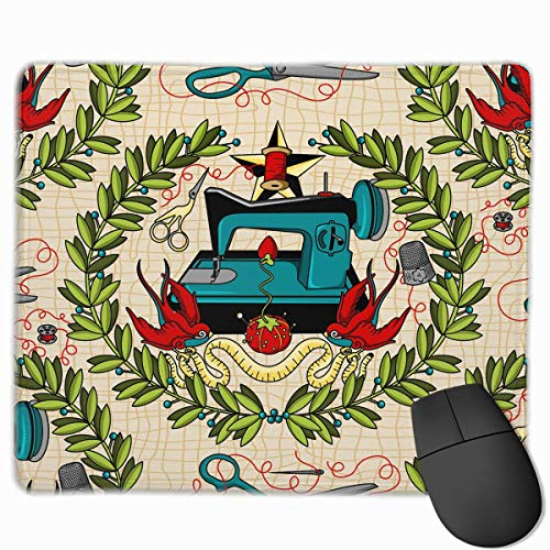 Sox Tattoo (Design Rechteck Rutschfeste Gummi Gaming Mousepad (Sewing Tattoo Funny Pattern))