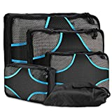 ProCase Packing Cubes for Travel, 4 Piece Packing Cubes Set Lightweight Compression Travel