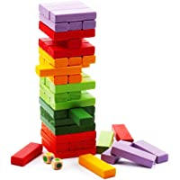 Leona Enterprise® Colour Jenga Blocks Timber Tower Tumbling Game for Kids and Adults, Jenga Game Traditional Classic…