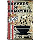 Itemer le café Motif plaque en métal nostalgique vintage rétro publicité émail plaque murale