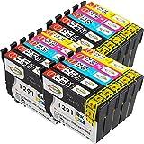 win-tinten 15 T1291-T1294 Kompatible Patrone als Ersatz für Epson BX 525WD BX 535WD BX 635FWD BX 320FW BX 305F BX 305FW SX 525WD SX435W SX420W Drucker