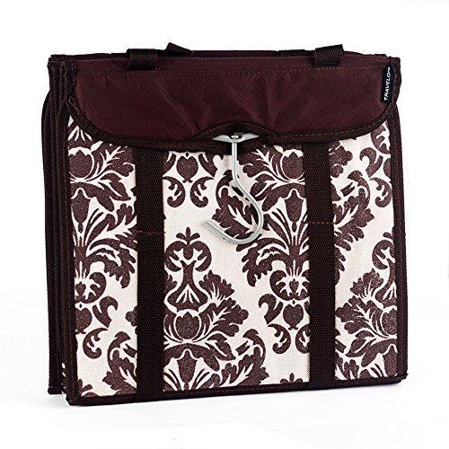 travelon-hanging-handbag-organizer-set-of-2-chocolate-damask