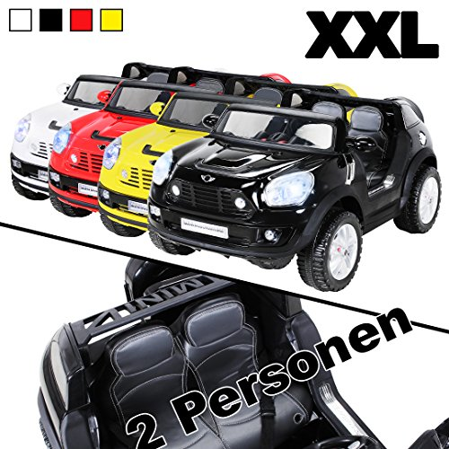 Kinder Elektroauto BMW Mini Beachcomber XXL 2 Personen Lizenziert Original Kinderelektroauto Kinderfahrzeug Auto (Schwarz)