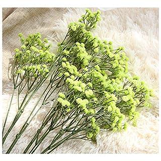 ATWFS 12Künstliche Fake Baby Atem Blumen Gladiolen Pflanzen Blumensträuße für Hochzeiten Home DIY Decor grün