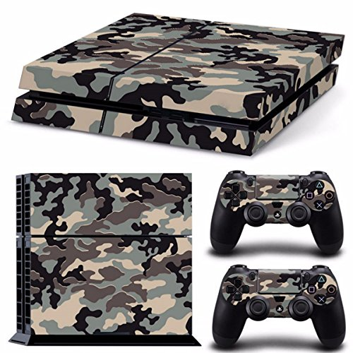 Camouflage-Pattern-Skin-Sticker-fr-PS4-Playstation-4-Console-2-Controller-Protector-Skin