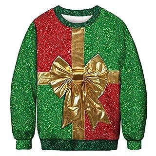 Xmiral Lovers Sweatshirt Weihnachten lustig niedlich 3D Print Herren/Damen Winter Langarm Pullover (XL,C-Herren)