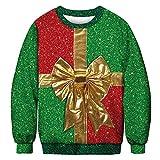 Xmiral Lovers Sweatshirt Weihnachten lustig niedlich 3D Print Herren/Damen Winter Langarm Pullover (XL,C-Damen)