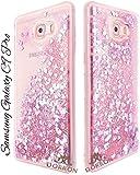 Best Phone Cases Galaxy - DORRON Glitter Bling Designer Transparent Liquid Waterfall Soft Review