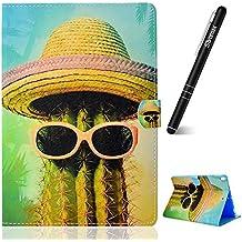 Slynmax - Funda de piel con tapa para iPad Pro 10.5 (incluye lápiz capacitivo), Cactus