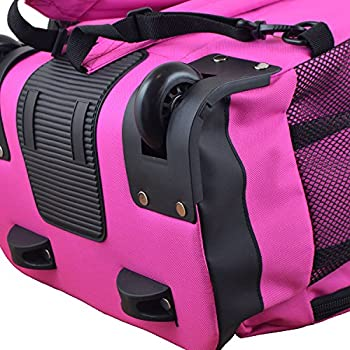 Nba Milwaukee Bucks Expedition Wheeled Backpack, 19-inches, Pink 4