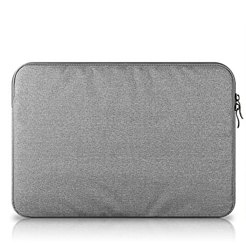 Baskety Laptop Sleeve for Apple, Lenovo, HP, Dell Inspiron, Latitude, Vostro, Toshiba, Sony, Acer, ASUS, Samsung, Fujitsu and 15 Inch Laptop (Grey, Single Pocket)