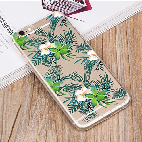 Custodia iPhone 6, Cover iPhone 6s Pacyer® Custodia Chiaro Cristallo Ultra Sottile Morbido Placcatura TPU Gel Case Cover per Apple iPhone 6/6s 4.7 (Cactus ragazza animale) 5