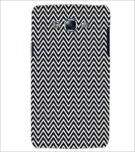 PrintDhaba ZigZag Pattern D-5908 Back Case Cover for SAMSUNG GALAXY J7 (Multi-Coloured)