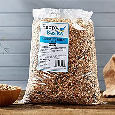 Happy Beaks No Wheat Small Wild Bird Seed Mix High Energy Garden Bird Grade Food by Happy Beaks