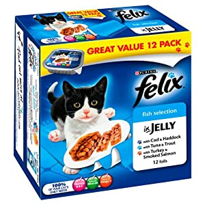 Felix Foil Fish 12 x 100 g (Pack of 4) by Nestle Purina