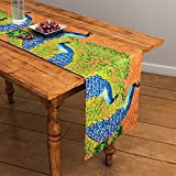 #8: SEJ Abstract Brown HD Digital Premium 13 by 48 inches Table Runner