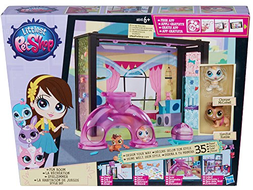 Hasbro A8543ES0 - Littlest Pet Shop kleine Tierchenwelt Spielzimmer Scene Style Set (Littlest Pet Shop Style Set)