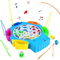 Jeux Peche a La Ligne Enfant Jeux Musical avec Poisson Plastique Canne a Pêche Jouet Poisson Enfant Jeu Educatif Jeux de…