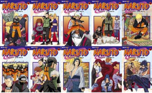 Naruto - Manga-Set, die Bände # 31-40 komplett auf einen Schlag! ()