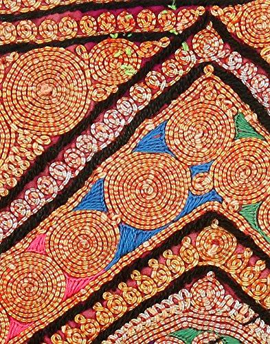 Borsa in cotone Rajrang antico Pochette vintage ricamati a mano per le donne Multi Color 04