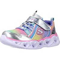 Skechers Girl's Heart Lights Rainbow Lux Sneaker