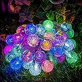 Guirlande lumineuse solaire, GLISTENY 30 LED Lampe Solaire guirlande solaire LED éclairage Waterproof Extérieure Chaine de lampes 7 Modes de Travail pour Jardin, terrasse, Fête de Noël, mariage