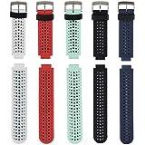 Fit-power Bracelet de rechange en silicone souple pour montre connectée Garmin Forerunner 235 / 235 Lite / 220 / 230 / 620 /