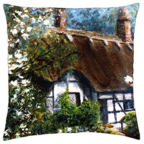Anne Hathaway's cottage - Throw Pillow Cover Case (18\