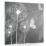 Delester Design gt10158g7Wanddekoration Pusteblumen Lenkrad Wind Glas bunt 40x 40x 1,60cm