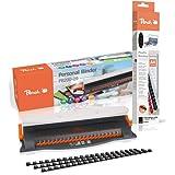 Peach PB200-09A Relieuse en plastique | Reliure 50 feuilles | Reliure max. 12 mm | Capacité de perforation 4 feuilles | Avec