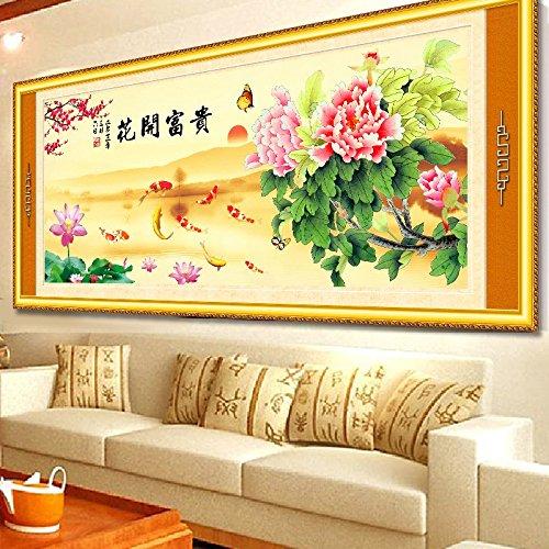 Punto croce, fiore, Pesce, stile cinese, p0163