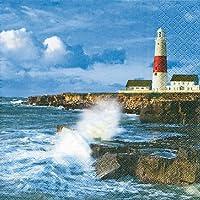 5 stück Lighthouse Servietten Leuchtturm maritim see knoten Serviettentechnik