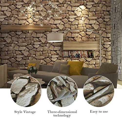 kinlor-053-10m-3d-papel-pintado-del-tridimensional-piedra-patron-de-marmol-marron-claro