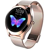 CUIFULI Smart Watches for Women, IP68 Waterproof Fitness Watch, Activity Trackers, Heart Rate Monitor Pedometers