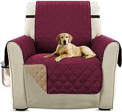 PETCUTE Luxus Gesteppte Stuhlabdeckung Sofabezug Anti-rutsch extra weich alle Größen