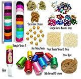 #9: Silk Thread Bangles making kit, 2 full bangle boxes, Full box Silk thread 10 colors,decorative chains & all materials!!