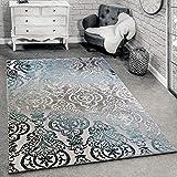 Paco Home Tappeto di Design Moderni Motivi Ornamentali Tappeto per Soggiorno Grigio Blu, Dimensione:160x230 cm