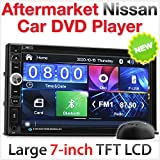 Tunez - Reproductor de DVD para Coche (7 Pulgadas, USB, MP3, Radio estéreo, para Nissan Juke Qashqai Navara X-Trail Note Pathfinder Micra NV200 Combil