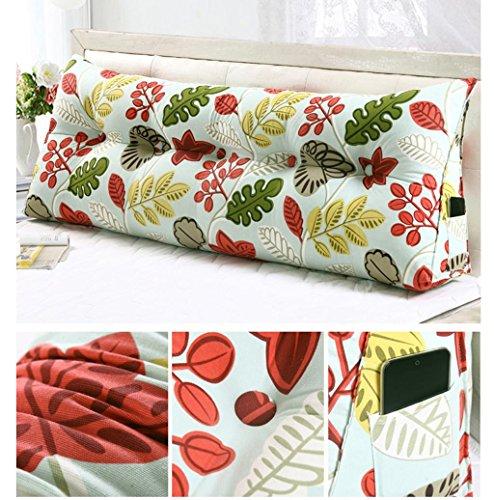 GHFDSJHSD FigtingEagle120CM Baumwolle Leinwand Bett dreieckig großes Kissen Doppelte Paar Rücken Tatami Sofa Kissen Rückenlehne, 14 Diablo Wind Jacket