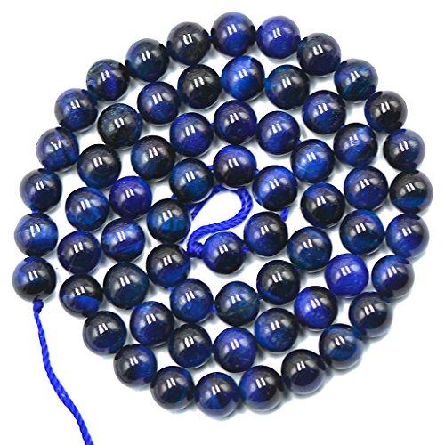 6mm Pietra Preziosa Naturale Blu Della Tigre Preparazione Di Gioielli In Pietra Occhio Perline Rotondo 15 Pollici