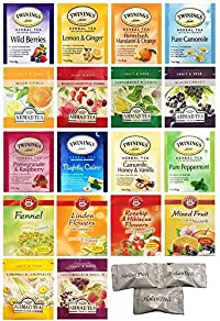 Twinings, Ahmad, Teekanne Variety Herbal Tea Pack. (36 count). Includes Our Exclusive HolanDeli Chocolate Mints.