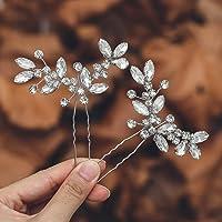 Mayelia, forcine per capelli da sposa con cristalli argentati, accessori per capelli Baidal per donne e ragazze…
