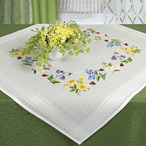 Embroidery FLOWERS Template Complete Tablecloth
