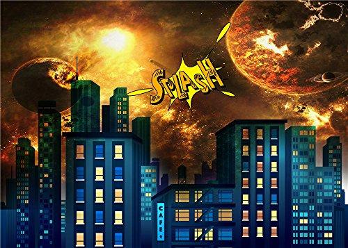 Daniu Foto Backdrops Hell Super City Kinder Fotografie Warm Hintergrund Vinyl 7x5FT 210cm x 150cm Daniu-sc021