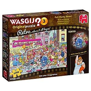 Jumbo pcs Wasgij Retro Original 3-Fiebre Completa Monty. Puzzle de 1000 Piezas, Multicolor (19167)