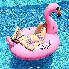Idea Regalo - Innoo Tech Gonfiabile Fenicottero Gigante Salvagente Gonfiabile Piscina 170 x 110 x 125 cm Anello di Nuoto Fenicottero Gonfiabile Rosa Gigante per Ragazzi