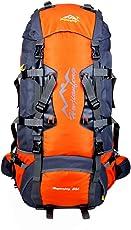 caxece 40L 50L 60L 80LTrekkingrucksack Unisex zum Urlaub Reise Tagestouren Wandern Fahrrad Beigsteigen Klettern Sport Camping mit Regenschutzhülle Überleben Pfeife Maske Halstuch Wasserdicht