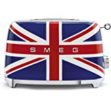 Smeg TSF01UJEU Broodrooster 2 plakjes 50's Style, britse vlag, meerkleurig